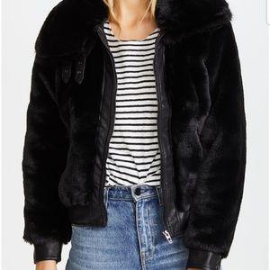 BLANKNYC fur bomber jacket